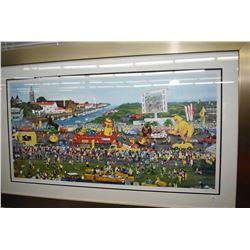 """Framed limited edition artist proof titled """"Tour de France-Le Grande Diepart de Vendee"""" pencil signe"""