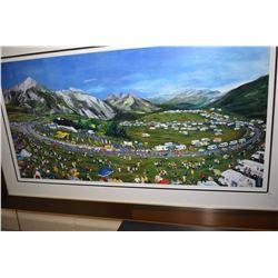 "Framed limited edition artist proof ""Tour de France-Col de Souler, Pyrenees"" pencil signed by artist"