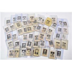 Selection of vintage Laval Dairy hockey cards 1951-1952 season including 43 single cards and 10 doub