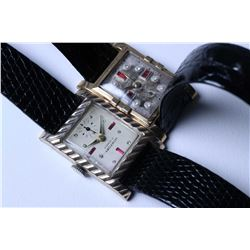 Two vintage men's wrist watches including 17 jewel watch with new strap, working at time of catalogu