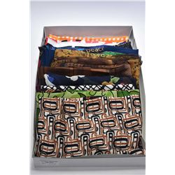 Lot of fifteen vintage silk long scarves