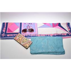 Two vintage Emilio Pucci silk scarves plus a Paul Smith wallet and sunglasses