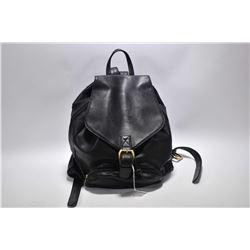Versace black genuine leather back pack