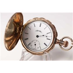 Elgin size 6, 11 jewel grade 94 pocket watch, serial #27840009, dates this watch to 1888. Full gilt