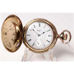 Elgin size 0, 11 jewel pocket watch, model 1, serial # 5286790, dates to 1894, 3/4 nickel plate stem