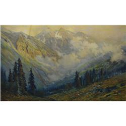 """Two framed prints including """"After the Storm"""" by Charles Partridge Adams and """"The Oaks"""" by Marion Ka"""