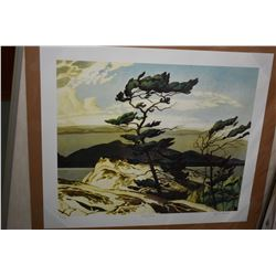 """Two unframed Group of Seven prints including """"White Pine"""" by A.J. Casson and """"River and Rapids"""" by J"""