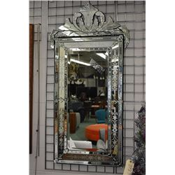 """Top quality """"Venetian"""" multi-section etched wall mirror 55"""" in height"""