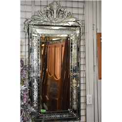 """Top quality """"Venetian"""" multi-section etched wall mirror, 55"""" in height"""