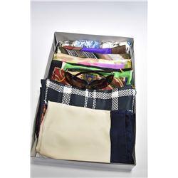 Ten designer silk scarves including Bill Blass, Ralph Laurent, Liberty etc. plus a pair of Dolce & G