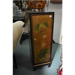 Modern quality Oriental style statuary stand/ cabinet with hand painted floral and gilt decoration