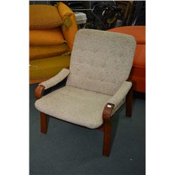 Danish made Homa teak framed upholstered side chair