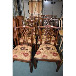 Set of six Chippendale style dining chairs with two carvers made by Althorp of MacElherans Fine Furn