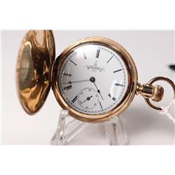 Elgin size 6 pocket watch with 11 jewel 118 model 2, serial #6333989, dates to 1896. Gilt 3/4 plate