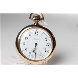 Howard size 16, 17 jewel pocket watch, grade series 9 model 1905, serial #1145933, dates to 1912, 3/