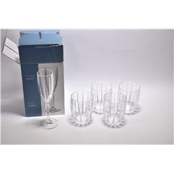 Selection of Waterford Crystal including boxed set of four Marquis by Waterford Omega flutes and fou