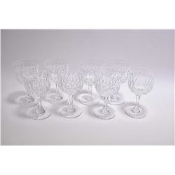 Selection of Webb and Corbett crystal including eight each of tumblers, sherry and small claret