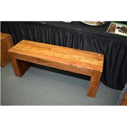 Exotic mango wood entry or bed end bench