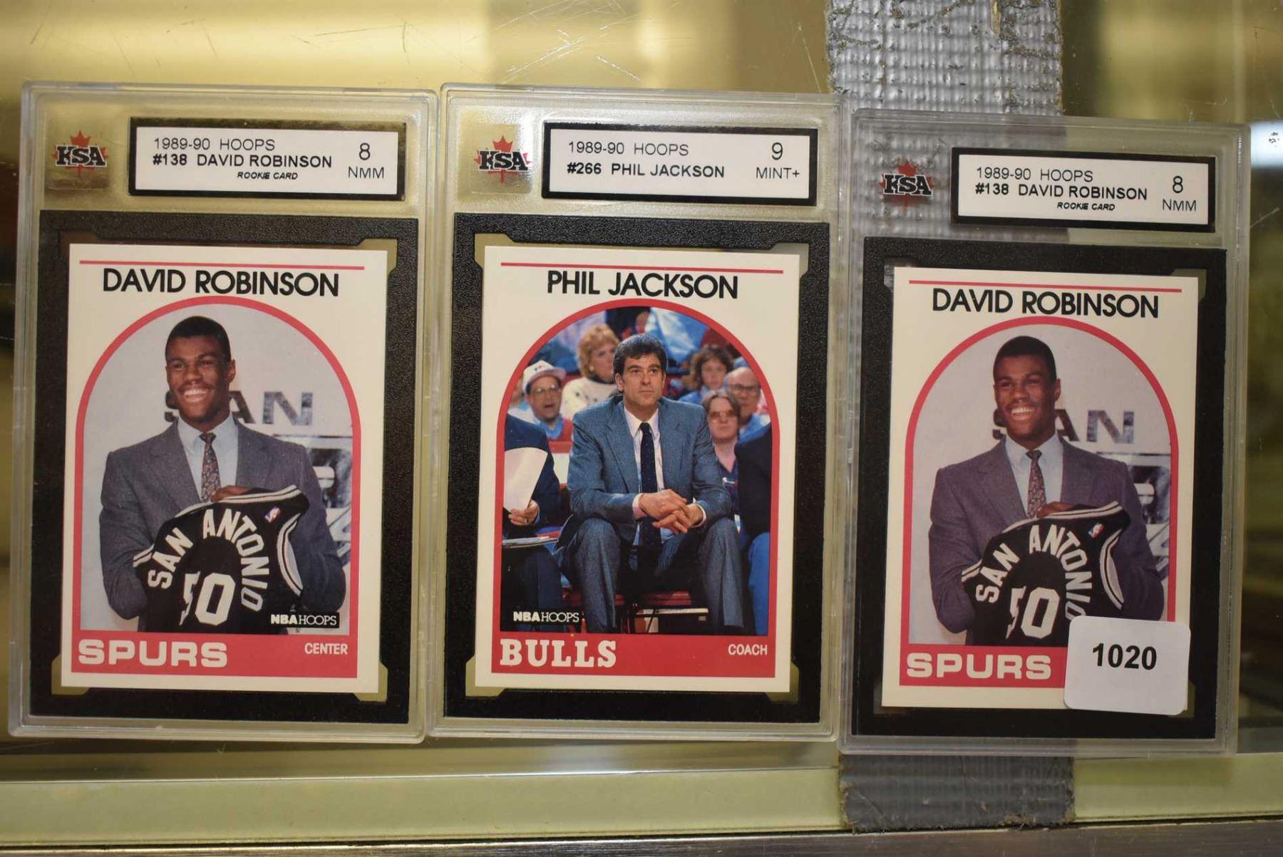 Three Graded Baseball Cards Including Two No 138 David