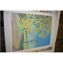 "Two unframed print including limited edition titled ""Autumn"" pencil signed by artist 60/150 and an a"