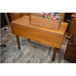 Antique Canadiana drop leaf table