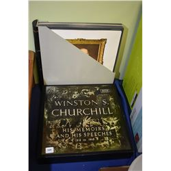 "33 RPM long play boxed set of ""Winston Churchill His Memoirs and his Speeches"""