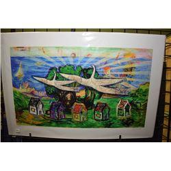 "Unframed limited edition print ""Community"" pencil signed by artist Steve Csorba, 25/30"