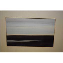 "Framed original watercolour landscape signed by artist, 6"" X 9"""