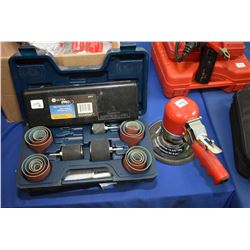 Selection of tools including hose clamp pliers set, Mastercraft drum sanding set, digital read-out c