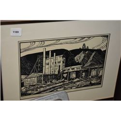 "Framed limited edition print ""Rosedale Mine Tipple"" pencil signed by artist M. Shelton 29/100"