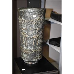 "Glazed stoneware floor vase 19"" in height"