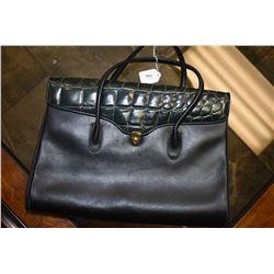 Black leather Cachet Dior satchel