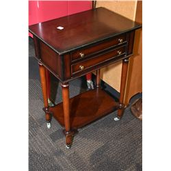 Semi contemporary single drawer side table