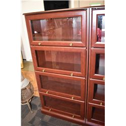 Four section simulated barristers bookcase