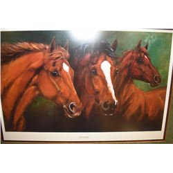 """Framed limited edition print """"The Lords of Legend"""" pencil signed by artist Maureen Shelleau, 303/650"""