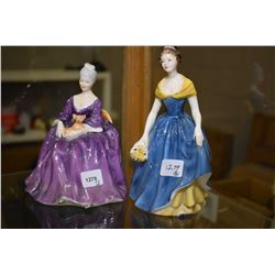 Two Royal Doulton figurines including Charlotte HN2421 and Melanie HN2271