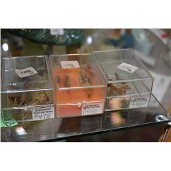 Selection of rough cast metal miniatures