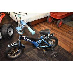 Child's small bicycle Trek 12 with training wheels
