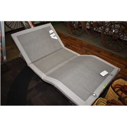 Single size mechanical bed with remote