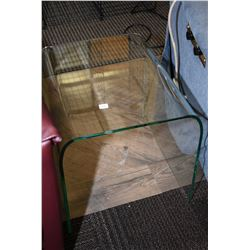 Ultra modern curved glass side table