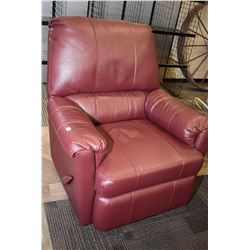 Faux leather reclining
