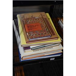 Selection of hardcover reference books on carpets