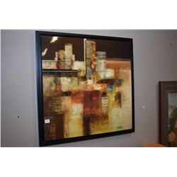 Framed department store abstract picture