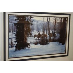 Framed print of horse and riders