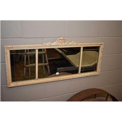 Triple pane wall mirror