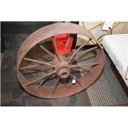 "Vintage metal wagon wheel 29"""