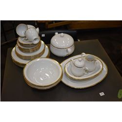 """Selection of Noritake china """"Carrie"""" including four dinner plates, four luncheon plates, five bread"""