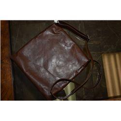 Vintage leather satchel marked New York