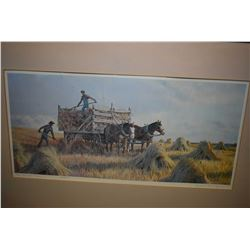 "Framed limited edition print ""The Bundle Team"" pencil signed by artist Isabelle Levesque, 42/250"
