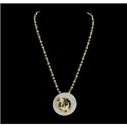The Legend of the Dragon 18KT Gold 8.50 ctw Diamond Pendant With Chain